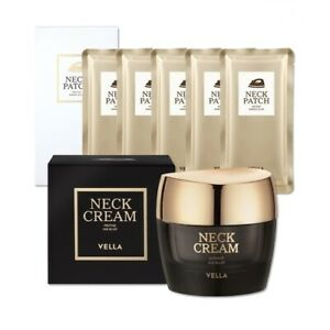 VELLA Neck Prestige Wrinkle Killer Patch 5ea + Cream 50ml Anti-Wrinkle K-Beauty
