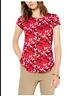 Alfani Printed T-Shirt Floral Red XL 2X XXL NWT