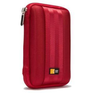 Case Logic QHDC101 Portable Hard Drive Case Red NEW FREE UK POST