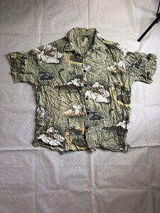 Vintage Crazy 90s Abstract Hawaiian Festival Shirt Size XL