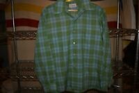 vtg Penneys Towncraft Thin Button Up Shirt Men's Large Cool Buttons