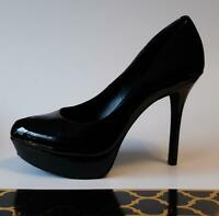 Jessica Simpson Black Platform Peep Toe Stilettos - Women's U.S. 7B