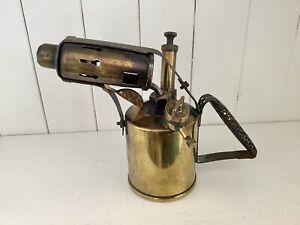Antique Vintage Brass Blow Torch Lamp ~ MONITOR ~ No.26 BRITISH Made