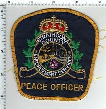 Strathcona County Peace Officer (Canada) Uniform Take-Off Shoulder Patch 1980's