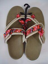 Women's Flat Sandal - Size Large (9-10) - Color Tan
