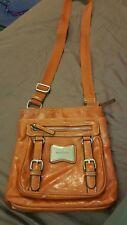 FRANCO SARTO-Leather Purse Crossbody Messenger Handbag Boho Rust WORLD SHIP