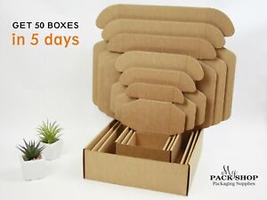 Square Shipping Boxes With Lids Different Sizes Cardboard Mailing Packing Box