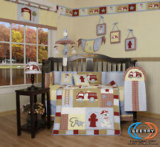 Baby Boutique Boy Fire Truck GEENNY 13PCS Nursery CRIB BEDDING SET