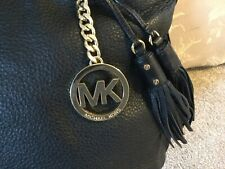 Michael kors large leather bag,black soft leather ,whipstitched