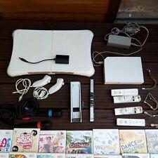 Nintendo Wii RVL-001 Console Bundle 14 games balance fit board microphone Joblot