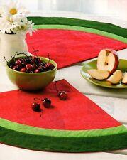 Watermelon Cooler Place Mats Quilt Pattern Pieced GG