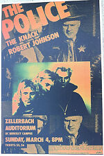 The Police - With The Knack & Robert Johnson At Berkeley - 2Nd Printing Scarce