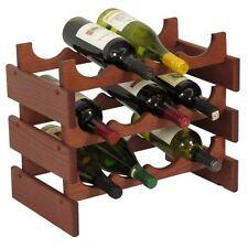 Wooden Mallet WR43 12 Bottle Dakota Wine Rack  Mahogany NEW