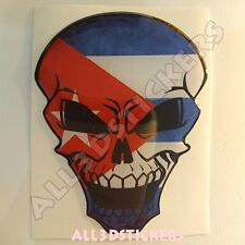Sticker Flag Cuba Skull Adhesive Decal Resin Domed Car Moto Tablet Laptop 3D