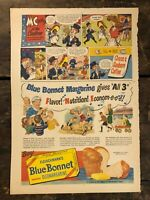 RARE Vintage 1945 Blue Bonnet / Chase & Sanborn Coffee AD WWII Color ~11x15.5