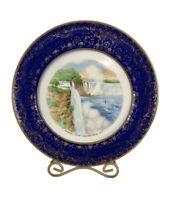 Vintage Niagara Falls Prospect Point Porcelain Souvenir Plate Warranted 22K Gold