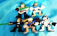 Set of Five - LUKE SKYWALKER - LFL Hasbro Galactic Heroes Star Wars Toy Figure