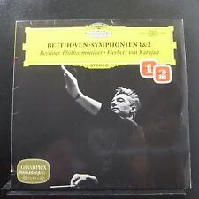 Beethoven, Karajan - Symphonies 1 & 2 LP Mint- 138 801 Germany Vinyl Record