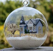 DIY Doll house Mini 3D Wooden Model Kits In Glass Ball Angel's Magic Dream Town