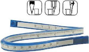 Flexibles 30cm Kurvenlineal Blau-Weiß Länge Biegsames Lineal