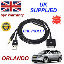 CHEVROLET ORLANDO OX0467904 3GS 4 4S iPhone iPod USB & Aux Audio Cable black