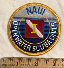 Naui Patch Open Water Scuba Diving Diver Down Flag Instructor 3� Round Iron On
