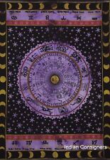 Poster Zodiac Sunsign Tapestry Small Throw Purple Cotton Table Cloth Wall Art
