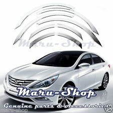 Chrome Wheel Well Fender Cover Trim for 11~14 Hyundai Sonata/i45