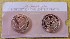 """Franklin Mint HISTORY OF THE US Bronze Coins 1 3/4"""" *"""