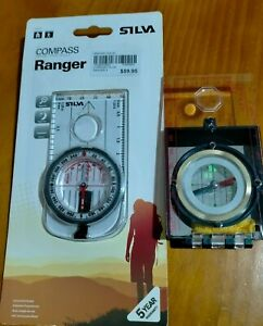 SILVA COMPASS - RANGER 3 MS Brand New RRP $59.95 + Bonus Extra Compass
