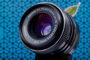 Carl Zeiss Flektogon 35mm f2.4  Fully Serviced Vintage Camera Lens Red MC