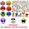 24Pcs Pokemon Go Pearl Action Figures + 9Pcs Poke Ball Pop-up Lot Kid Toys Gifts