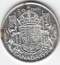 1951 Canada Silver 50-Cent Half Dollar Coin – M S 64