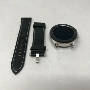 Galaxy Watch3 (GPS) Silver Stainless Steel 41mm w/ Black Leather Excellent