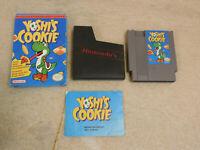Yoshi's Cookie Nintendo NES Game Box & Manual Complete
