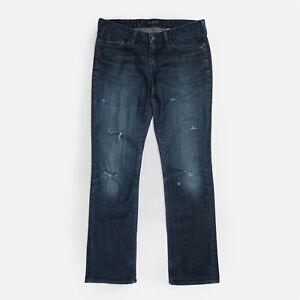 GAP Demi Boot Stretch Jeans Distressed Dark Blue Wash Boot Cut Women's W31 L32