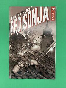Invincible Red Sonja #2 1:7  Moritat B&W FOC Variant Dynamite 2021
