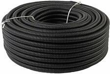 "100 Ft 3/8"" Split Wire Loom Conduit Polyethylene Tubing Black Color Sleeve Tube"