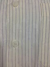Ike Behar Floral Embossed Dress Shirt Cream Striped Cotton sz L