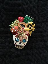 Large Betsey Johnson Rio Skull Ring