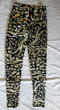 Just One Black & Metalic Gold leggings Yoga Pants Small *FREE SHIPPING* New
