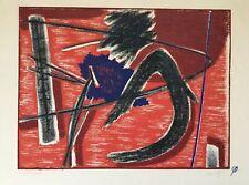 Henri GOETZ 1909-1989.Composition.Vers 1970.Lithographie signée.25x32.