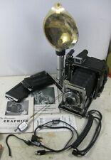 Vintage 1940's Pacemaker Speed 23 Graflex Speed Graphic 105mm 2 ¼ x 3 ¼ Set