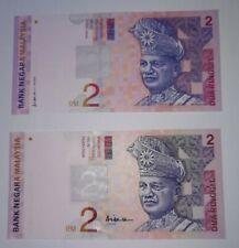 1996 -1999 MALAYSIA RM2 ALI SIDE FIRST PREFIX DF & CENTER FIRST PREFIX DJ @ UNC