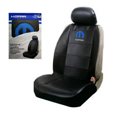 New Blue Mopar Elite Logo Synthetic Leather Sideless Car Truck Front Seat Cover