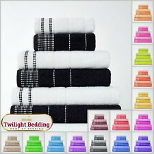 ULTRA SOFT DALBY TOWEL 100% Egyptian Cotton Hand Bath Sheet Bathroom Towels 2pcs
