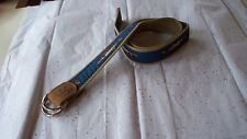 LeatherMan Ltd. Men's Cotton Belt w/ Cobia Fish Ribbon w/ Silver D-Ring-Med. NEW