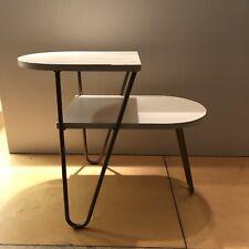 Original Eames Era Hairpin Leg 2 Tier Side End Table