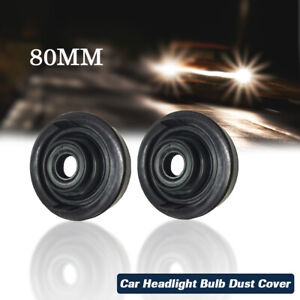 80mm Soft Rubber Car Headlight Bulb Dust Cover Waterproof For LED HID Xenon Lamp