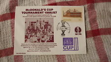 OLD AUSTRALIAN CRICKET STAMP COVER, 1986 SOUTH AUSTRALIA McDONALDS CUP WIN